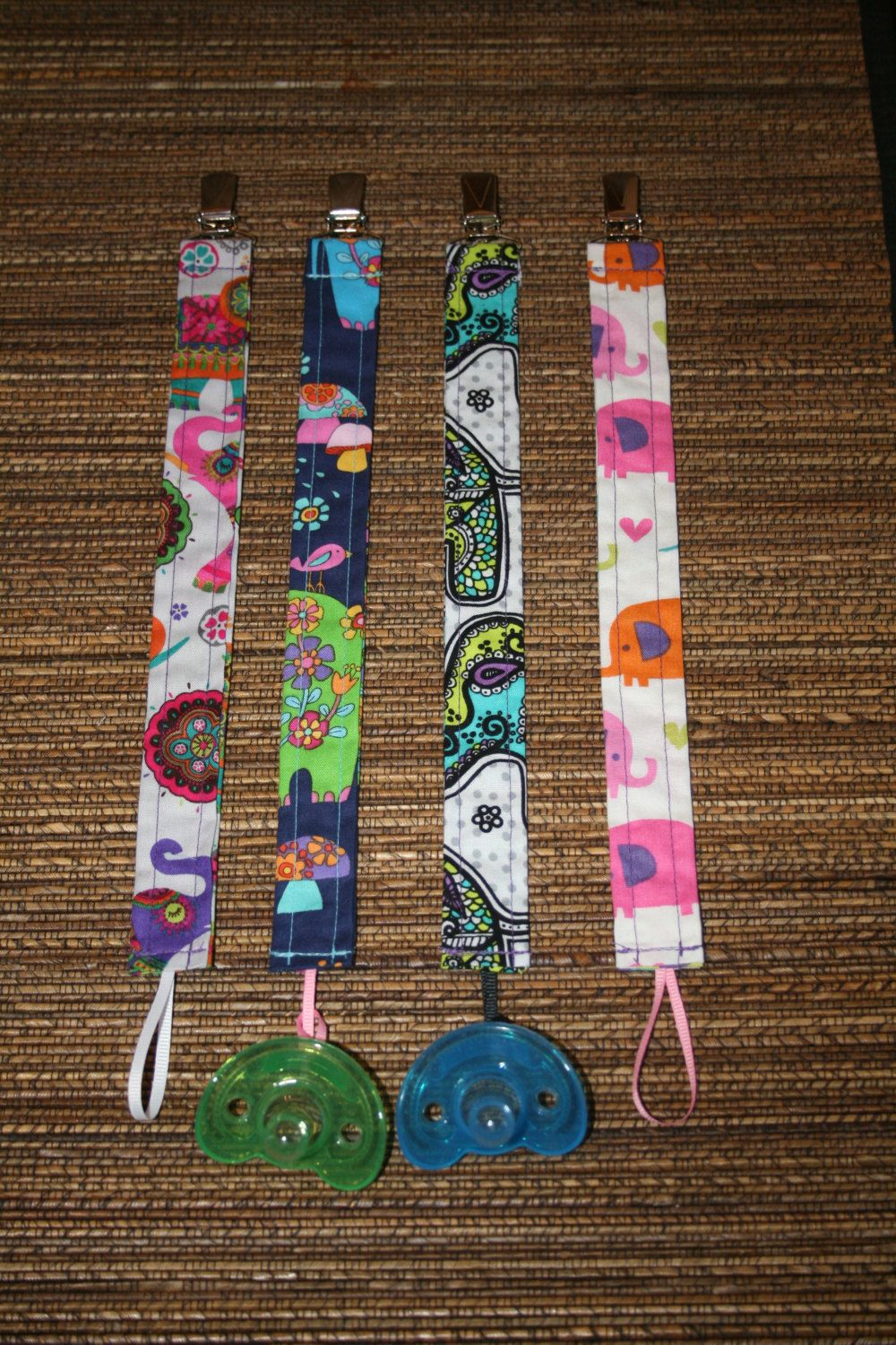 Sweet Swaddles Baby Pacifier Clip Holders by SweetSwaddles on Etsy