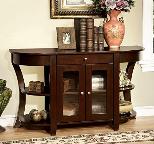 Furniture Of America Cartwright Transitional Console Table Dark Cherry Design Pinterest Tables And