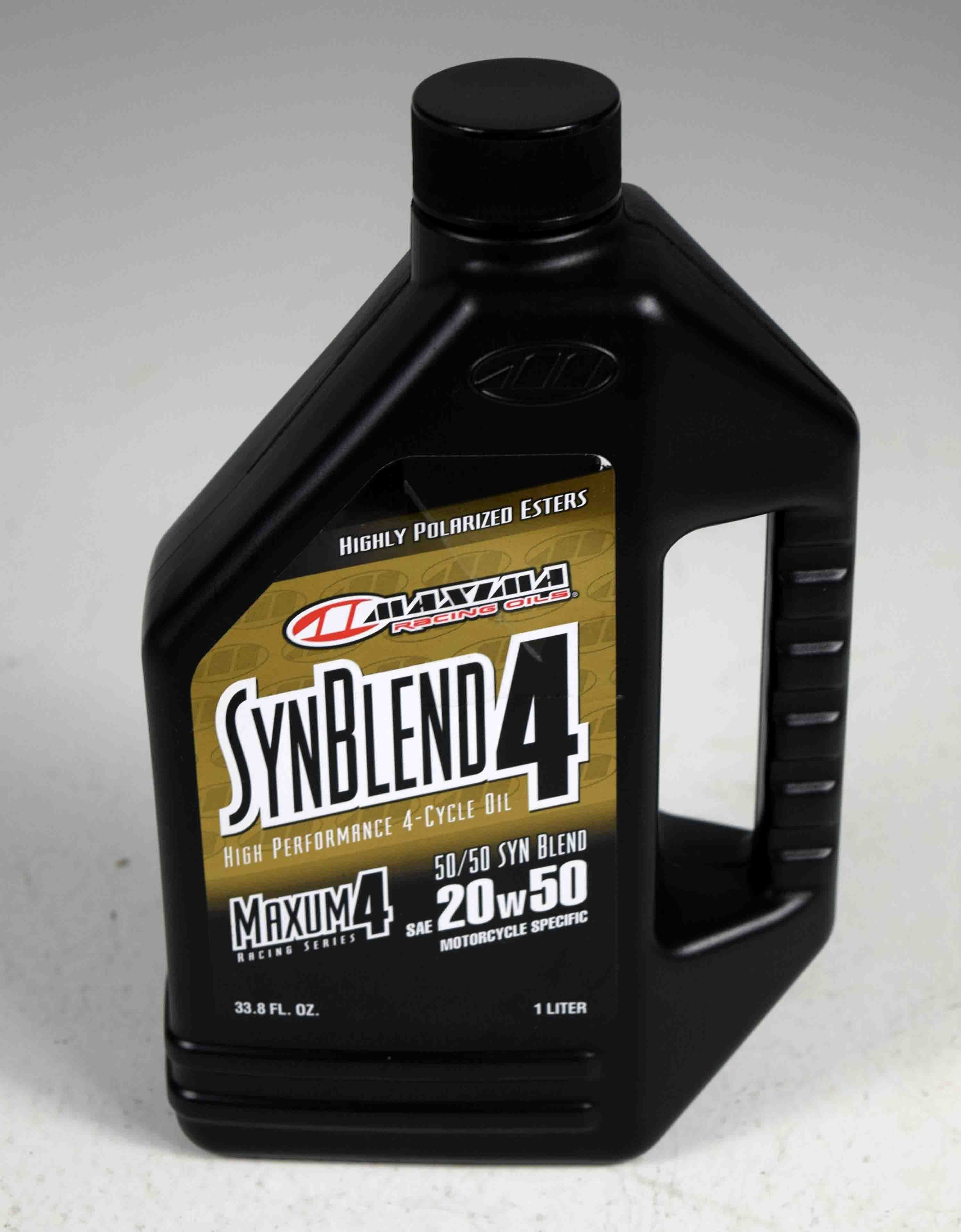 Maxima 35901B Syn Blend4 20W50 Motorcycle Engine Oil 1