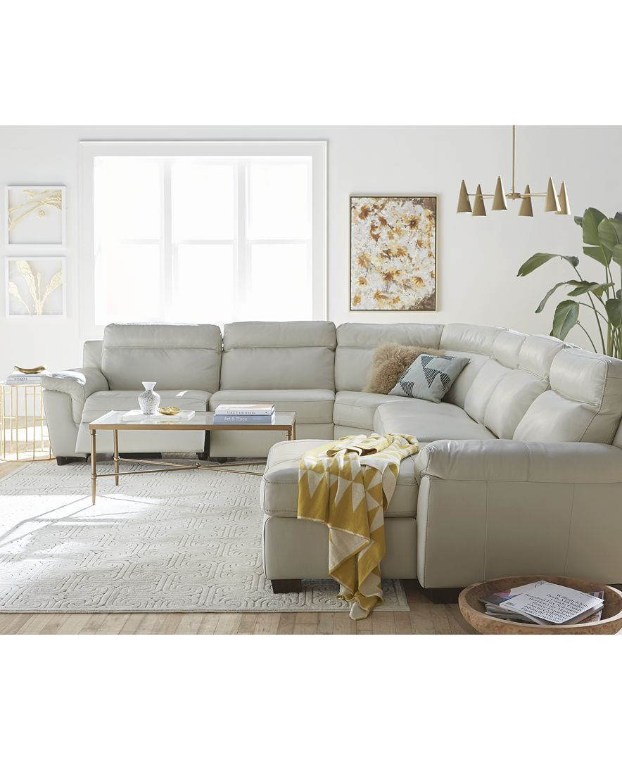 Bellac Antique Brass Chandelier Sectional Sofa With Recliner Living Room Furniture Recliner Reclining Sectional