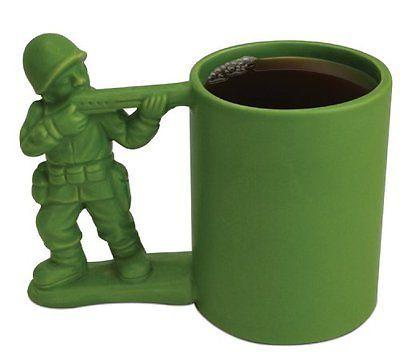 Big Mouth Toys Green Army Man Mug
