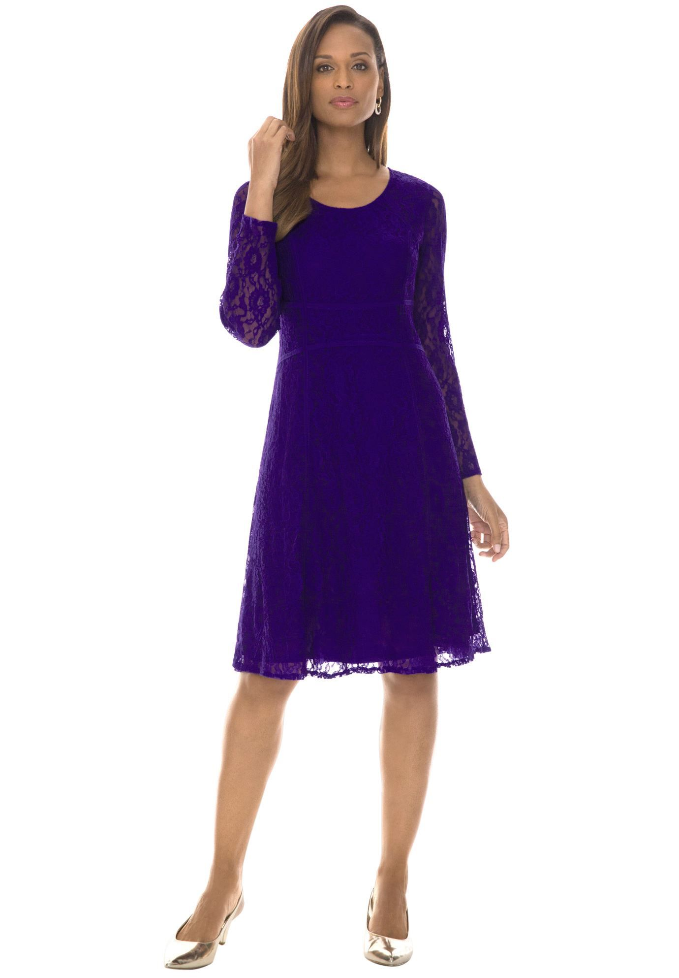 Jessica London® Seamed Lace Dress $29.99 | Style | Pinterest