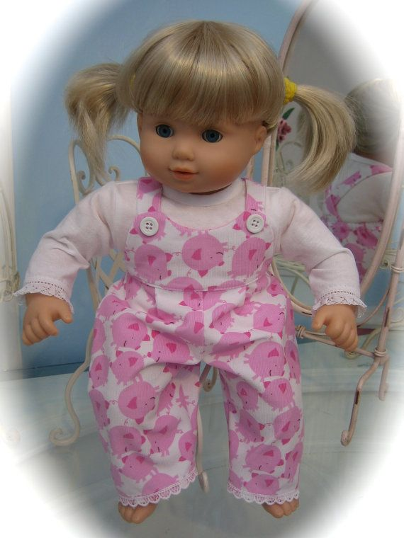Bitty Baby Clothes Or Twins Doll Girl Piggy By