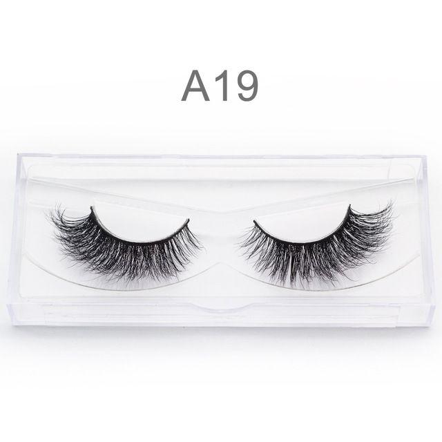 e77ac77563d Genailish Mink lashes Real Mink Eyelashes 3D False Eyelashes Handmade Soft Natural  Cilios 1 pair Fake Eyelash Extension-A04