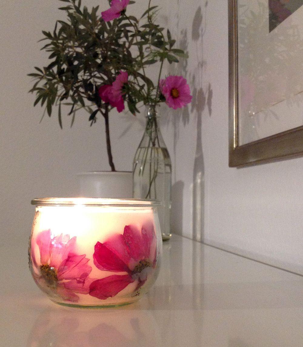 Diy Tulpenglas Kerze Ende Kerzen Pinterest Kerzen