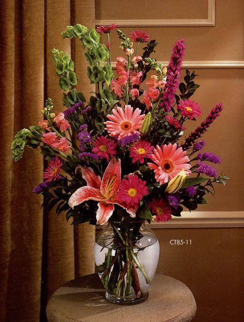 Vase Flower Arrangements Faux Flower Arrangement Pinterest