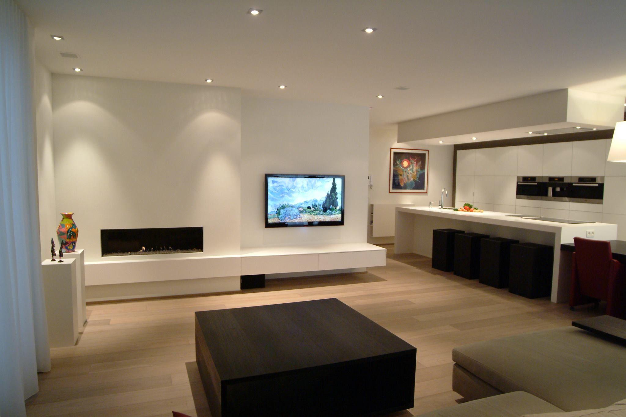 Kookeiland Open Keuken : Interieurinspiratie moderne leefruimte met open keuken in solid