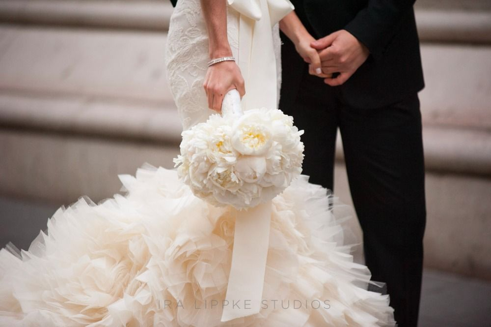 Bridal Bouquet, Chestnuts in the Tuileries - New York City Wedding http://caratsandcake.com/berg