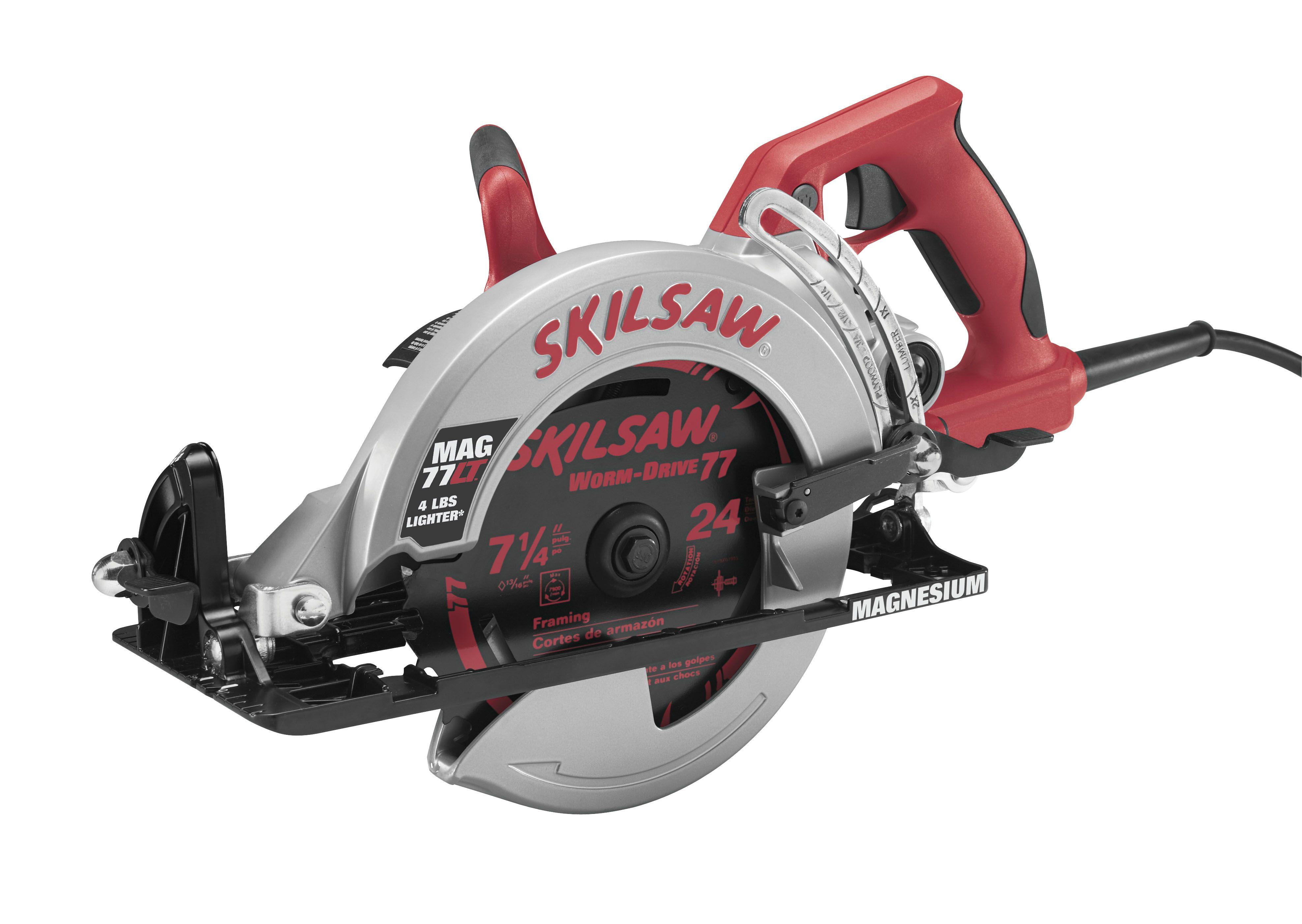 The Skil Saw Mag77lt More Mag Less Weight The World S Lightest Worm Drive Skil Circular Saw Design Elektrisch Gereedschap Gereedschap