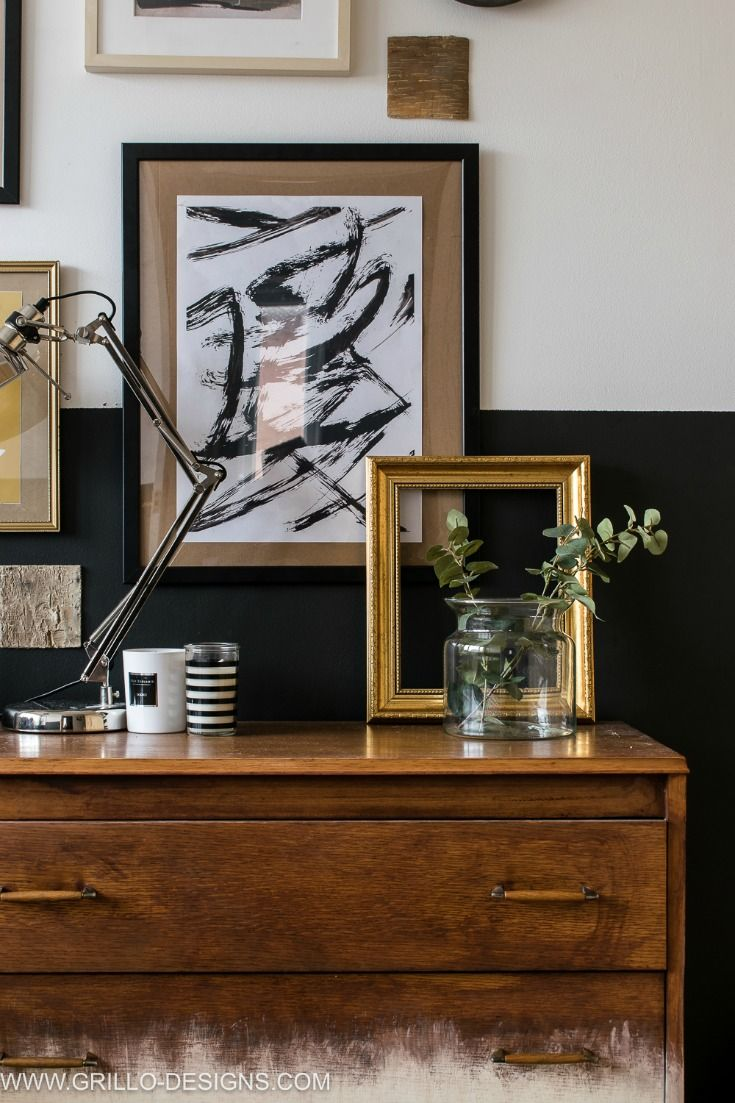 Modern Vintage Small Bedroom Makeover | Black Decor, Paint Walls And  Bedrooms