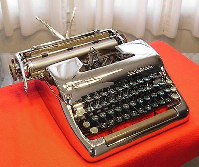 Restored Typewriter 1951 Smith Corona Silent W Chrome Chassis Turboplaten Typewriter Restoration Corona