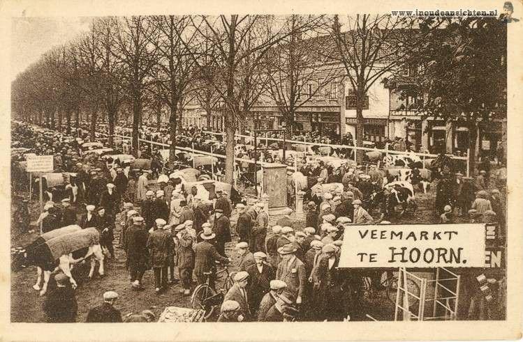 Hoorn, Veemarkt jaren 30 - In Oude Ansichten