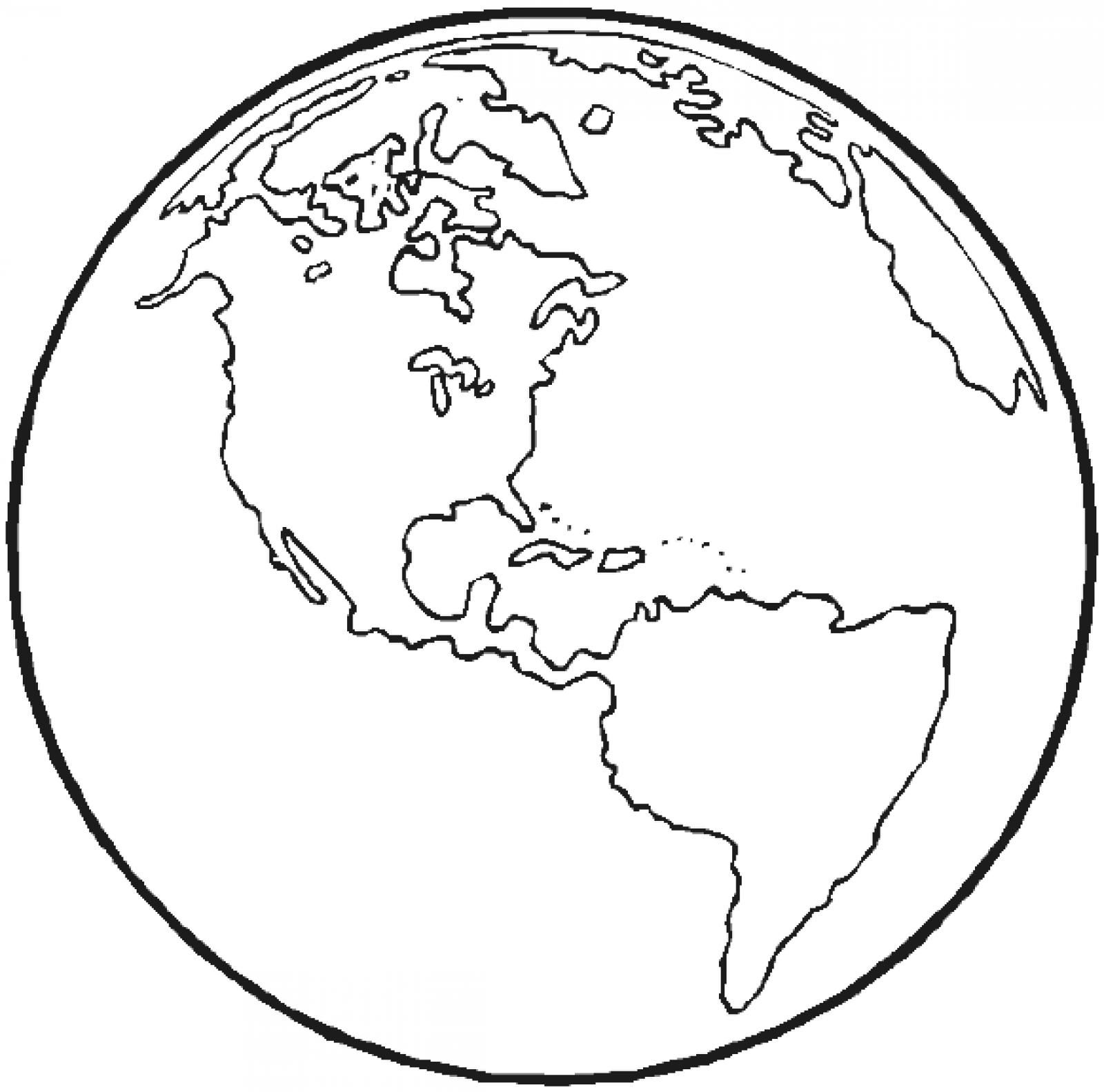The Earth Coloring Page Earth Coloring Pages Planet Coloring Pages Space Coloring Pages