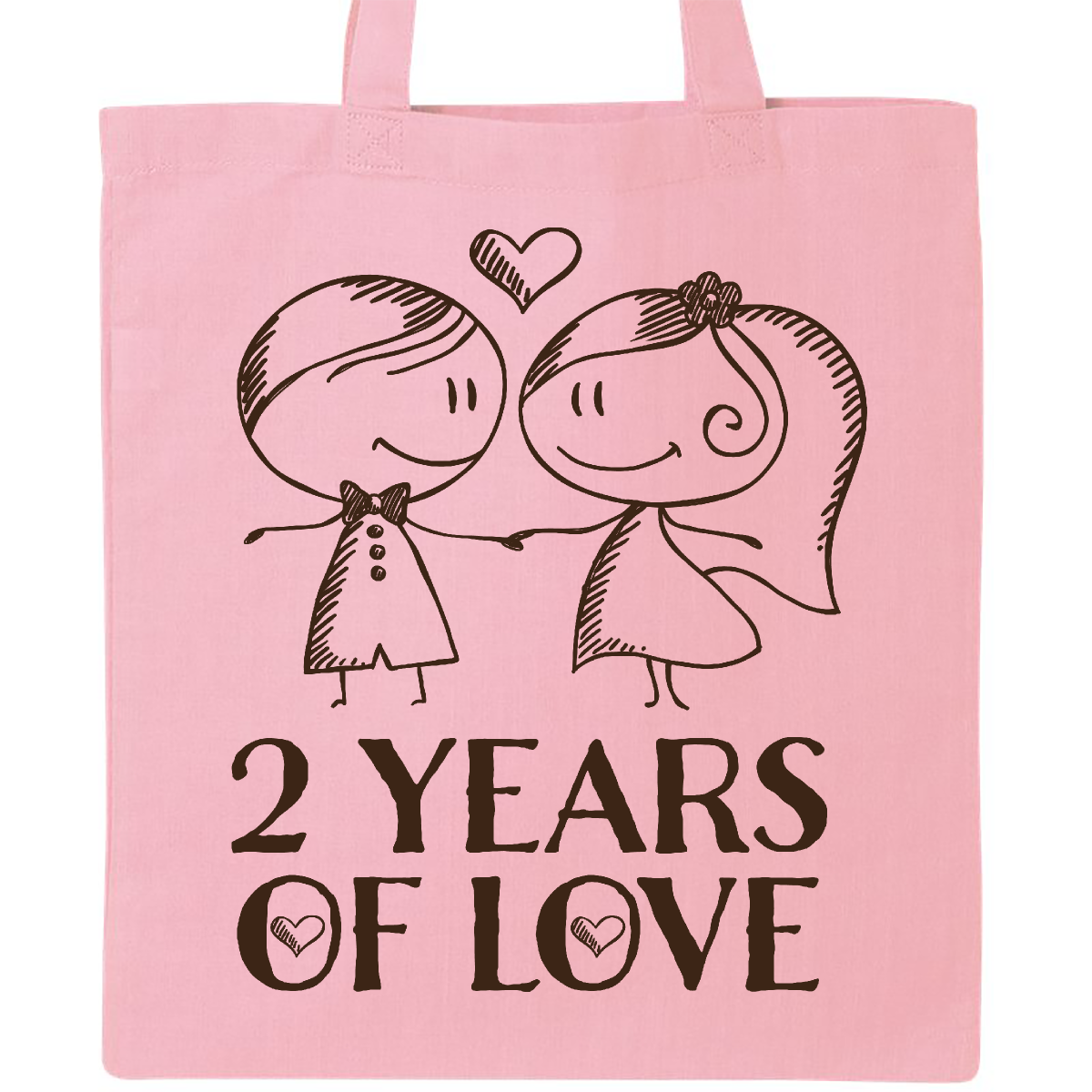 2nd Anniversary couples line drawing Tote Bag Pink $12.99 www ...