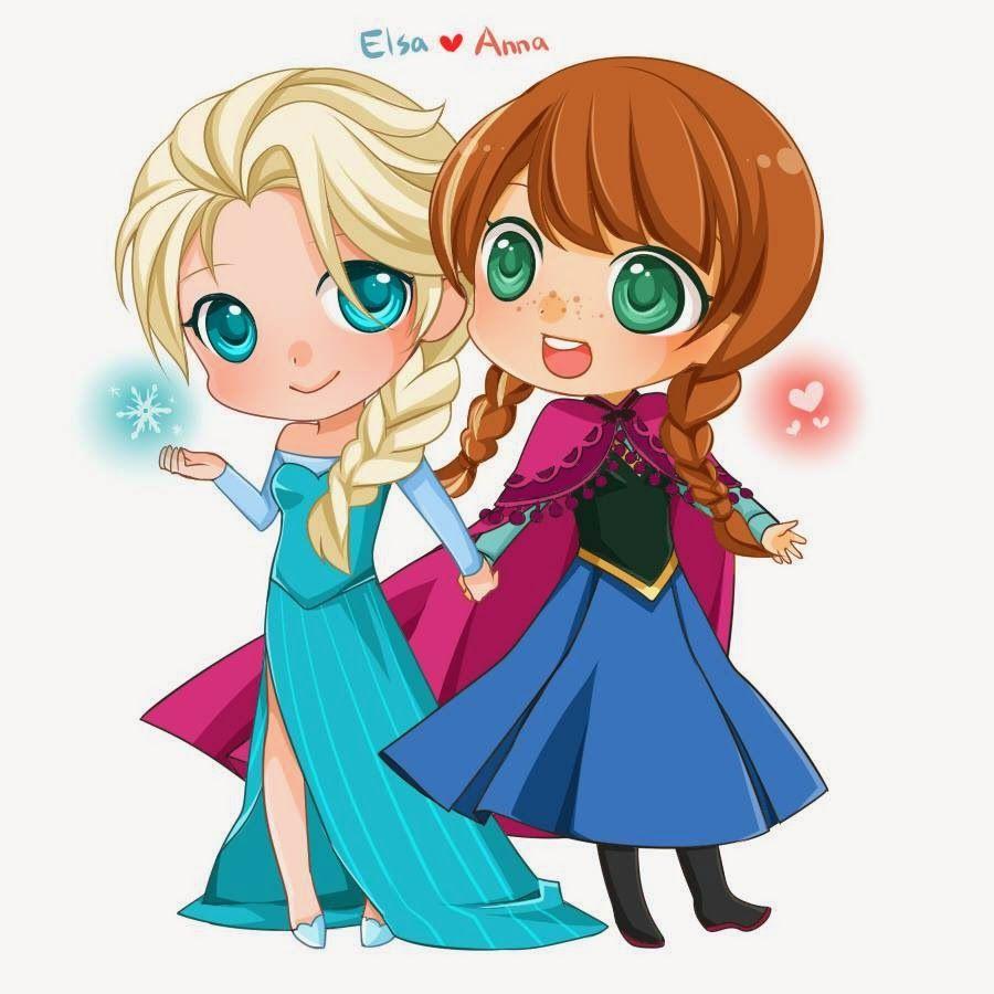 Elsa Y Anna Chibi Dibujos De Animales Tiernos Imagenes De Princesitas Dibujos De Frozen