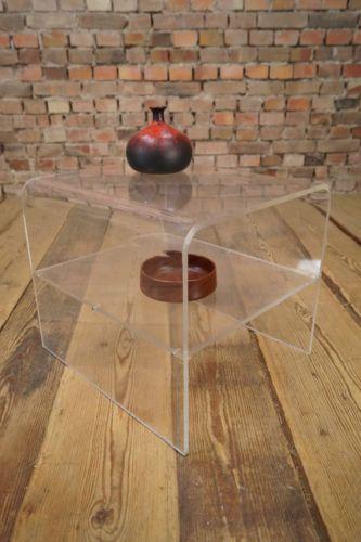 60er Space Age Plexiglas Couchtisch Beistelltisch Sofa Tisch Panton