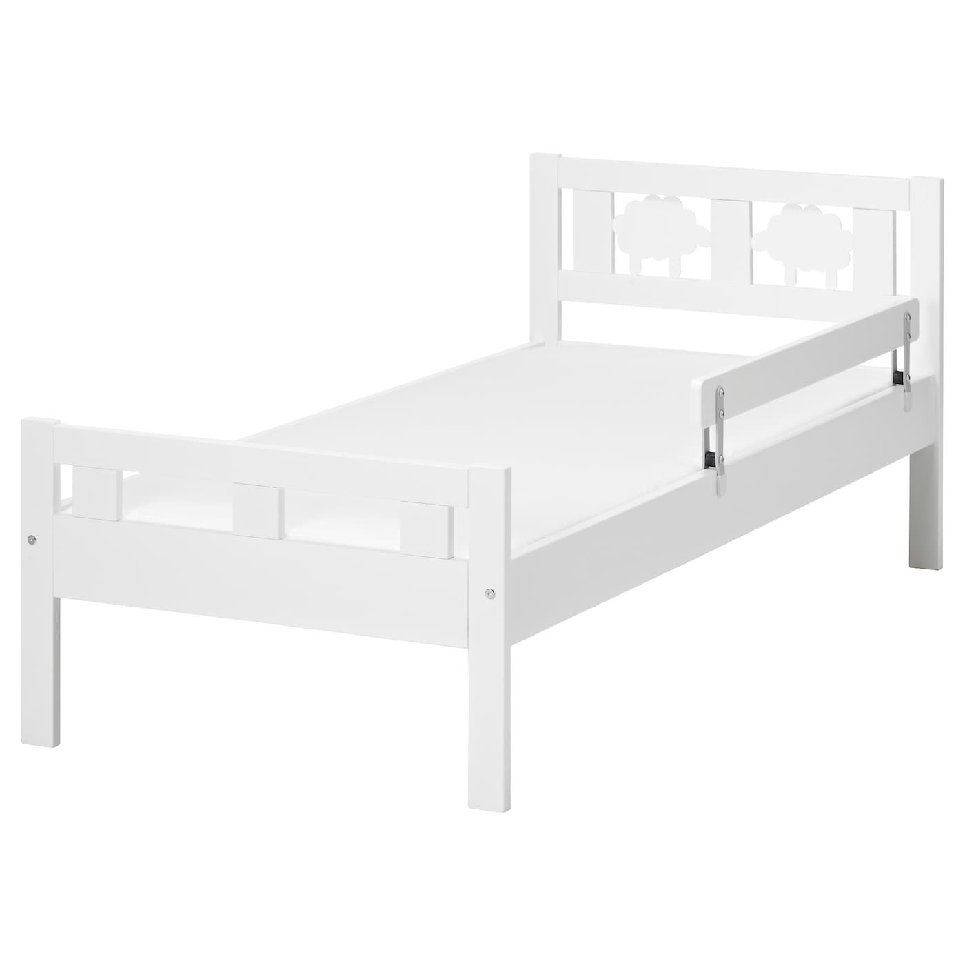 KRITTER Bed frame and guard rail, white