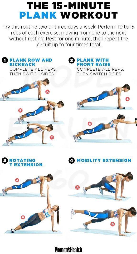 Das Plank-Training, das Ihre Bauchmuskeln straffen wird, Ihre Muskeln formen und Ihre Arme stärken,...