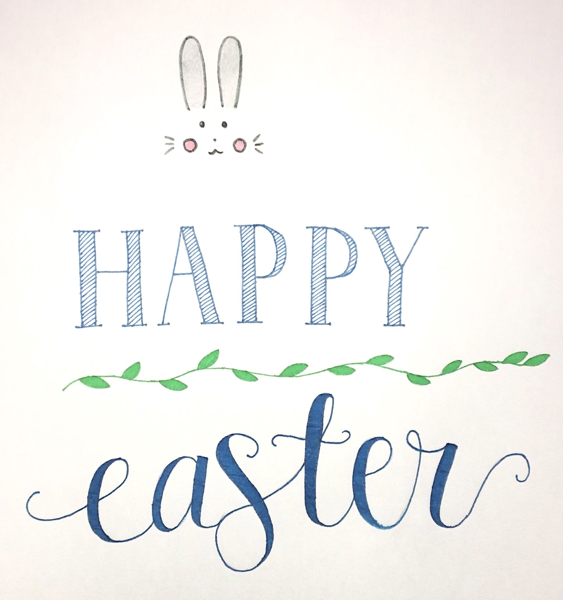 Happy easter calligraphy pasen kalligrafie