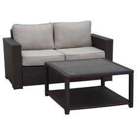 Sensational San Clemente 2 Piece Wicker Settee And Coffee Table Set Unemploymentrelief Wooden Chair Designs For Living Room Unemploymentrelieforg