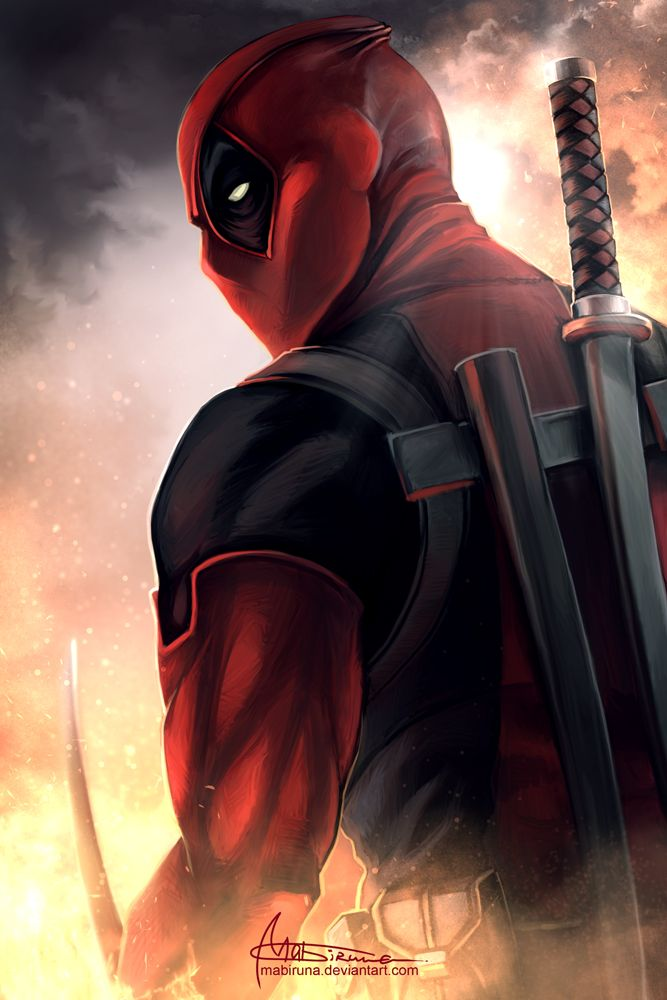 Pin by hero world on deadpool head and shoulder deadpool marvel heroes marvel - Dessin deadpool ...