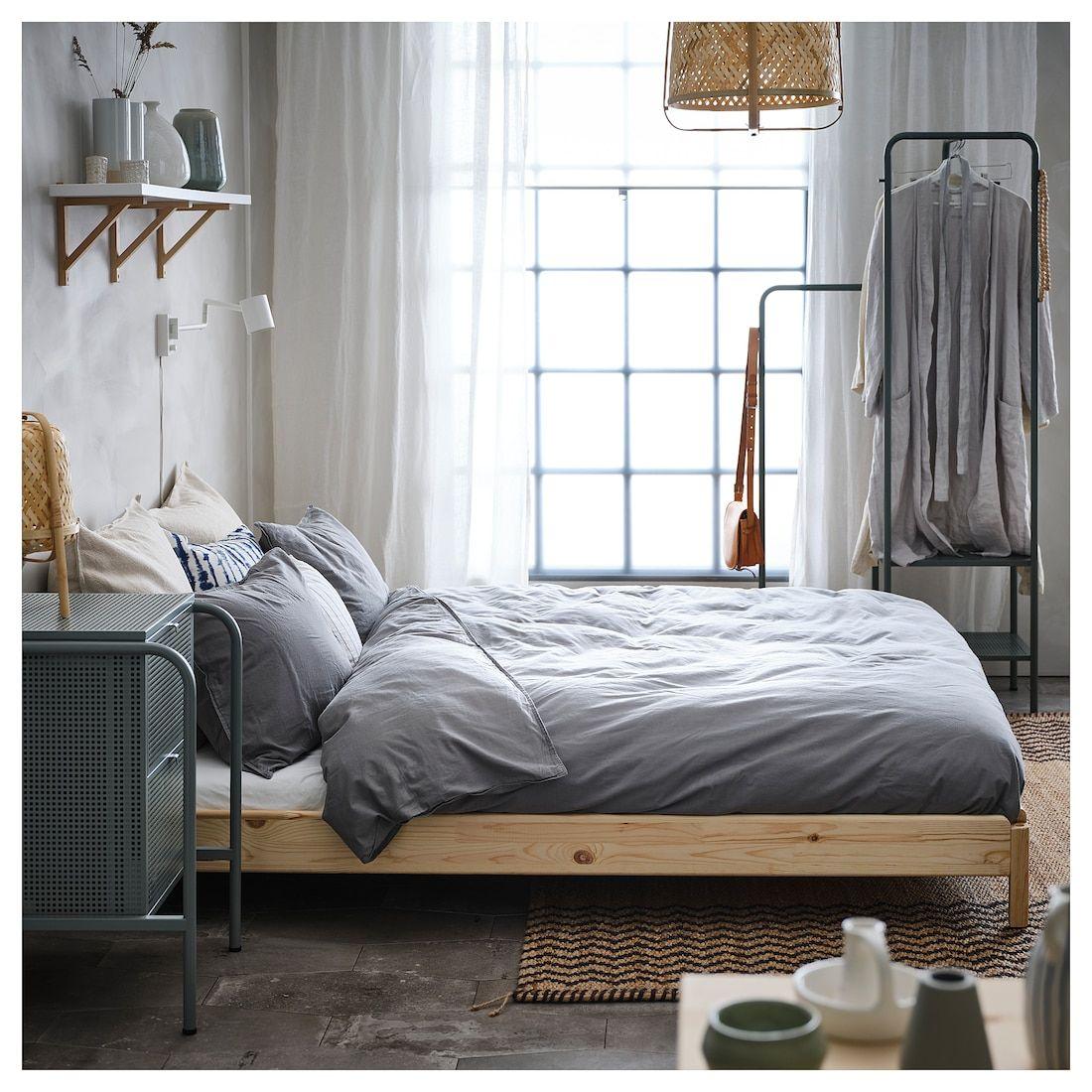 Utaker Stackable Bed With 2 Mattresses Pine Husvika Twin Ikea In 2020 Guest Bedroom Ikea Guest Bed