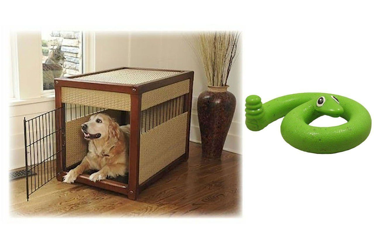 Deluxe Dog Crate - Extra Large with Green Springy Snake Toy You and Your Dog Will Be The Envy Of The Neighborhood! You and your trusted friend might not be Read  more http://dogpoundspot.com/dog-luxury-store-1050/  Visit http://dogpoundspot.com for more dog review products