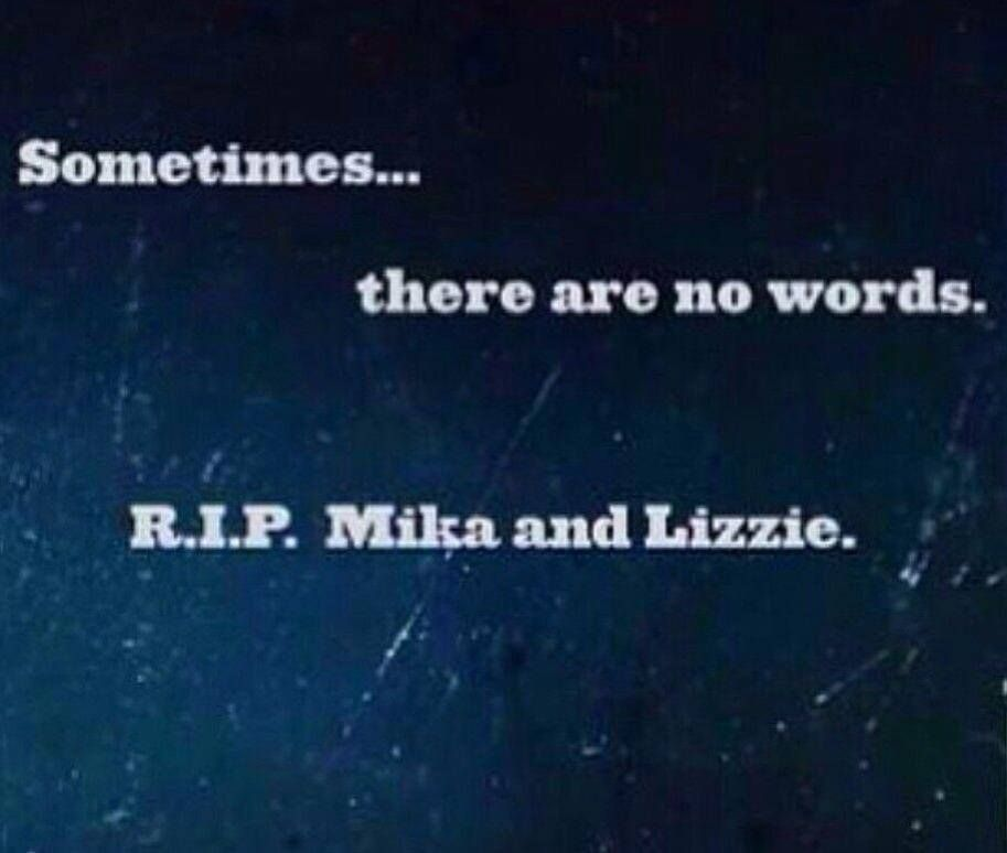 No words.... R.I.P. Mika and Lizzie  #TWD