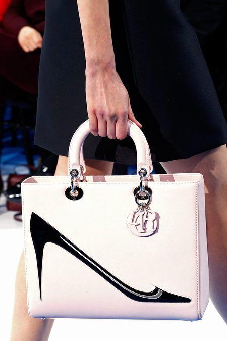a bag with a shoe @ Christian Dior Fall 2013