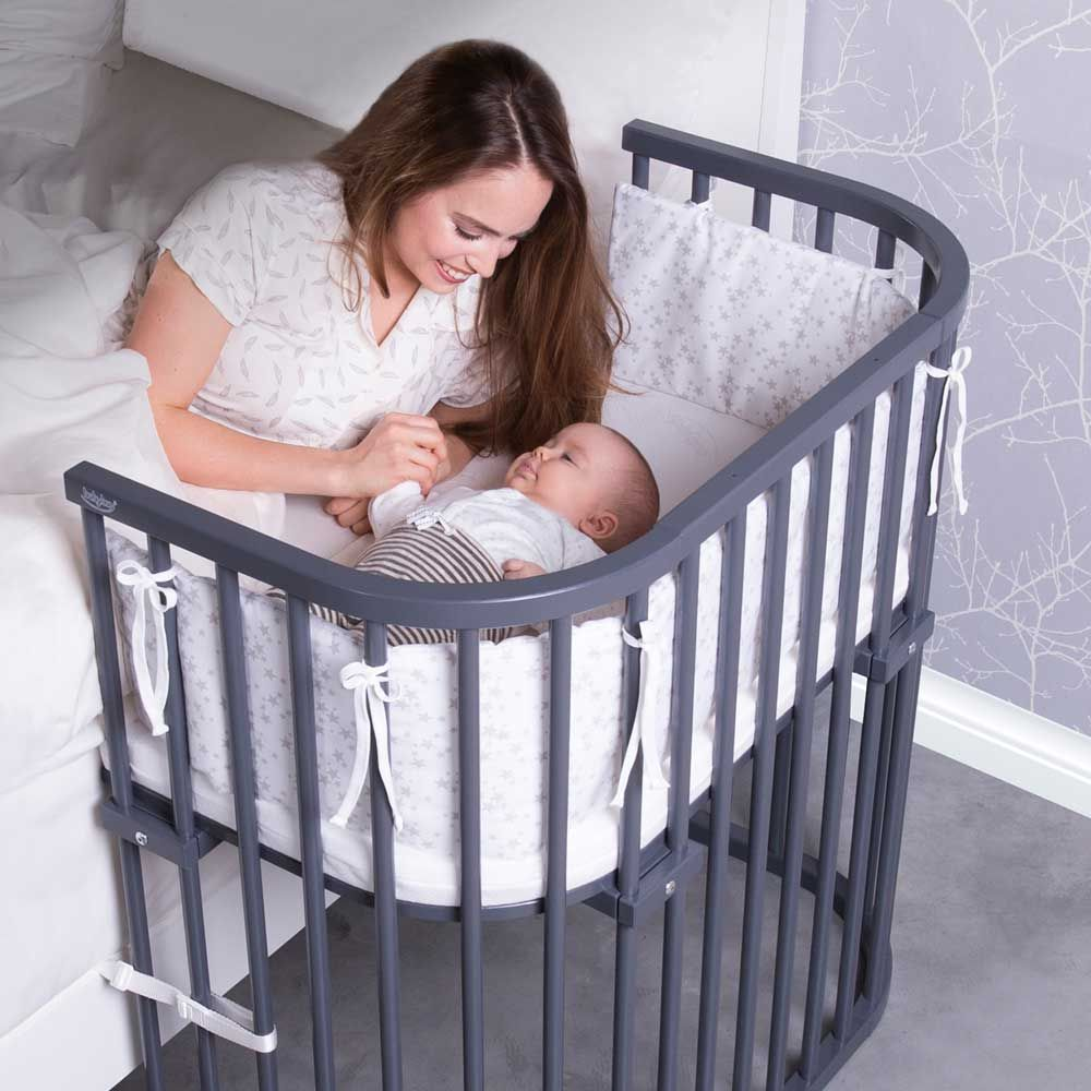 Baby bed with parents - You Won T Always Be In The Room As Your Baby Sleeps Convert Your Babybay From A Bedside Bassinet To A Full Crib With The Wooden Guard Rail So Your Baby