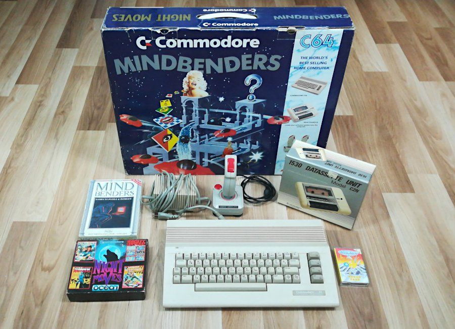 Commodore 64 Mindbenders Night Moves Bundle 1990 C64 Collection Spielesammlung Retro Audio