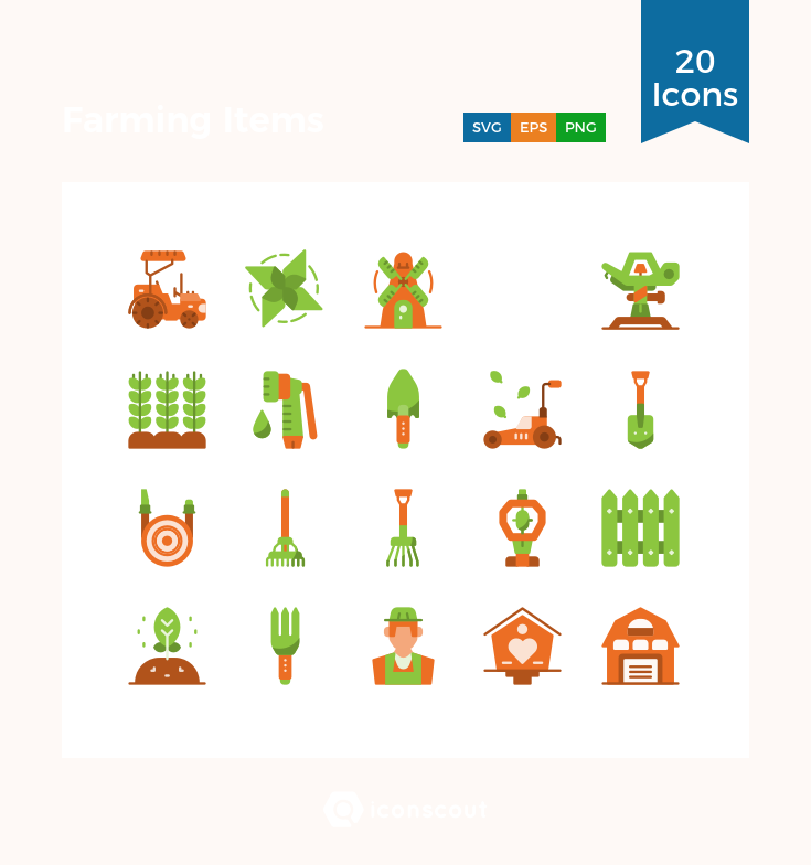 Download Farming Items Icon Pack Available In Svg Png Eps Ai Icon Fonts Icon Pack Icon Font Icon