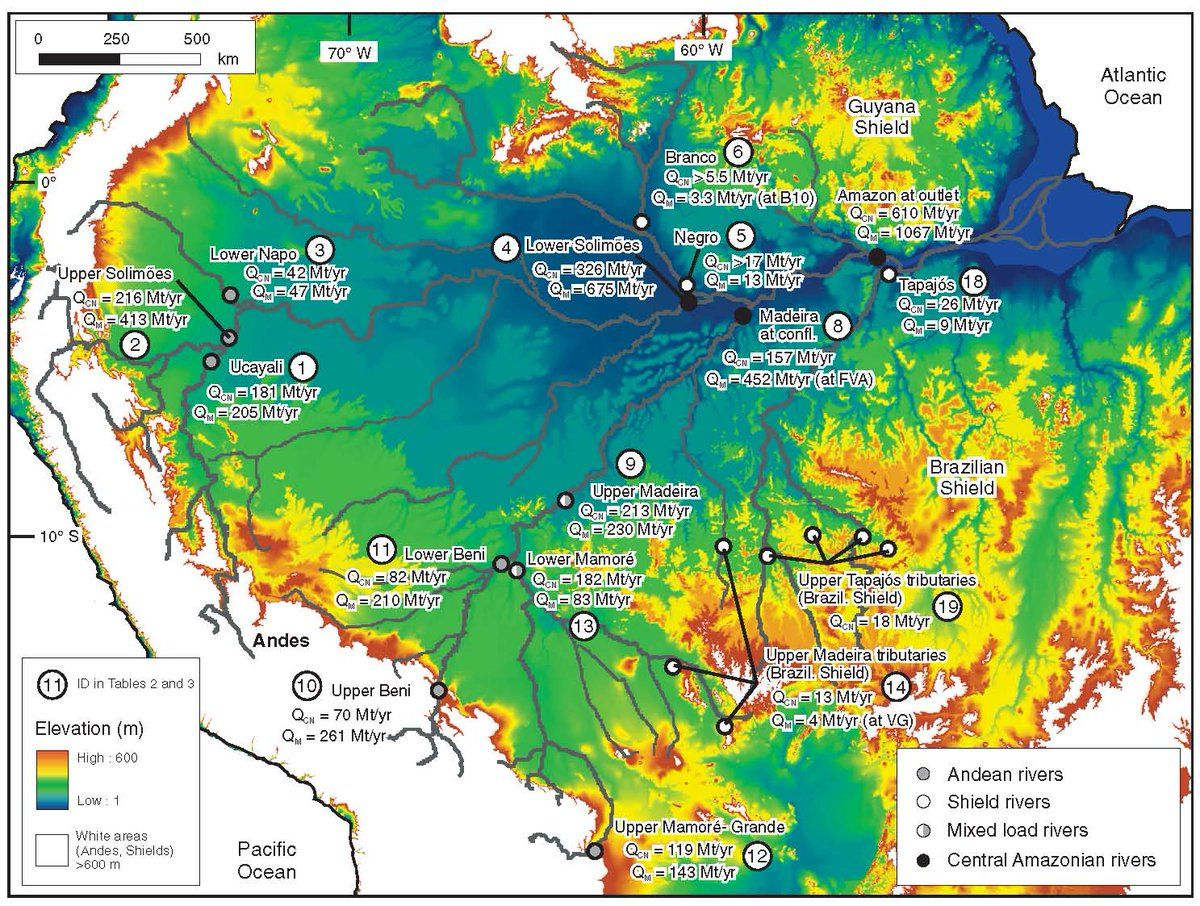 Sediment Production And Delivery In The Amazon River Basin