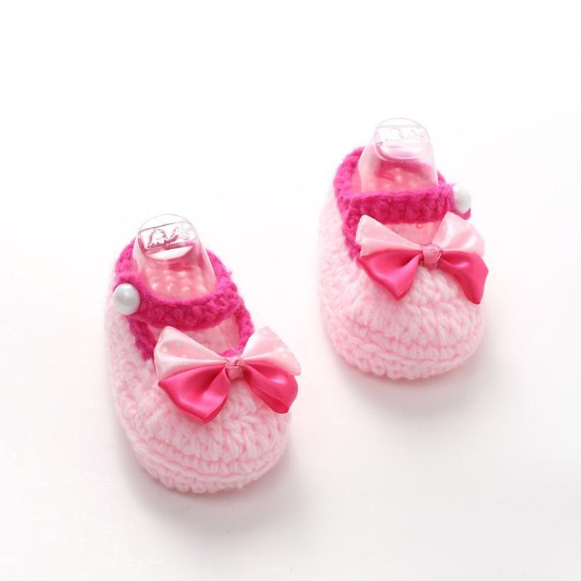 fc4836314 Click to Buy    1Pair Cute Crib Crochet Casual Baby Girls Handmade ...