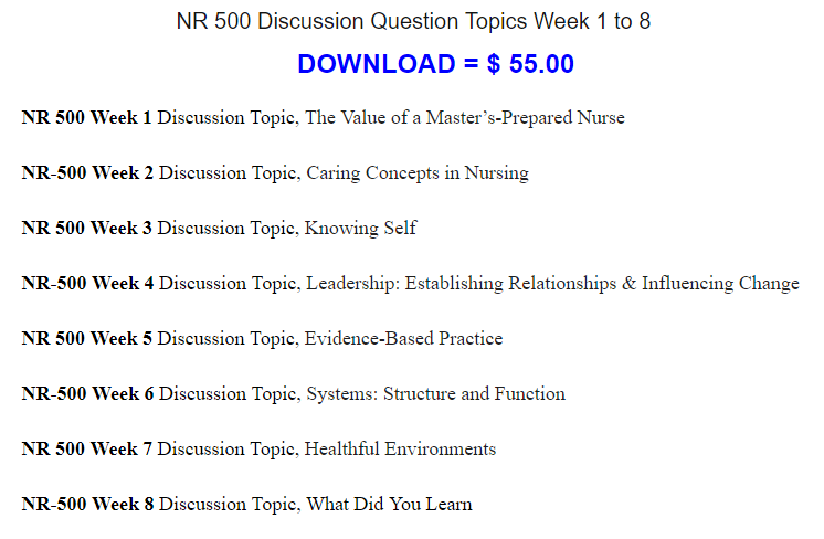 nursing topics for discussion