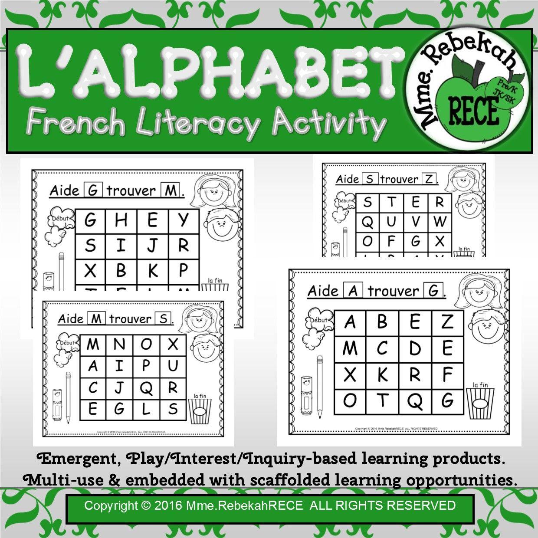 French Alphabet Activity Letter Maze
