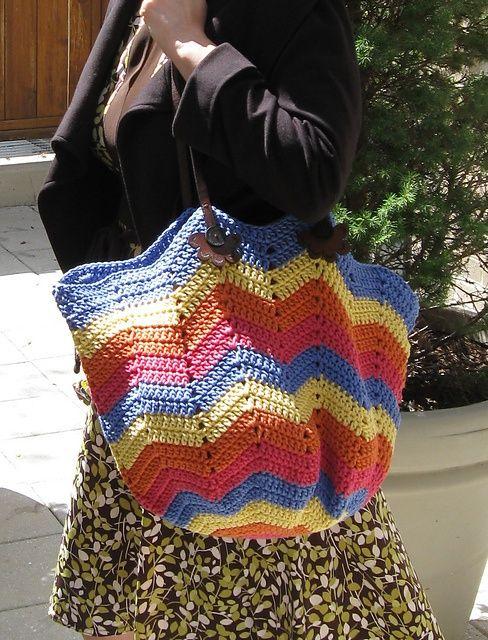 bolsa de crochê inspiração   Patrones de crochet, Bolsos y Bolsos ...