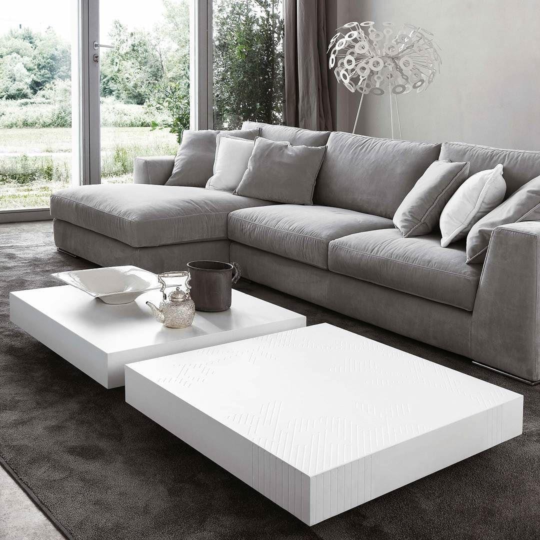 Quadratischer Design Couchtisch Schatten von Novamobili aus Italien ...
