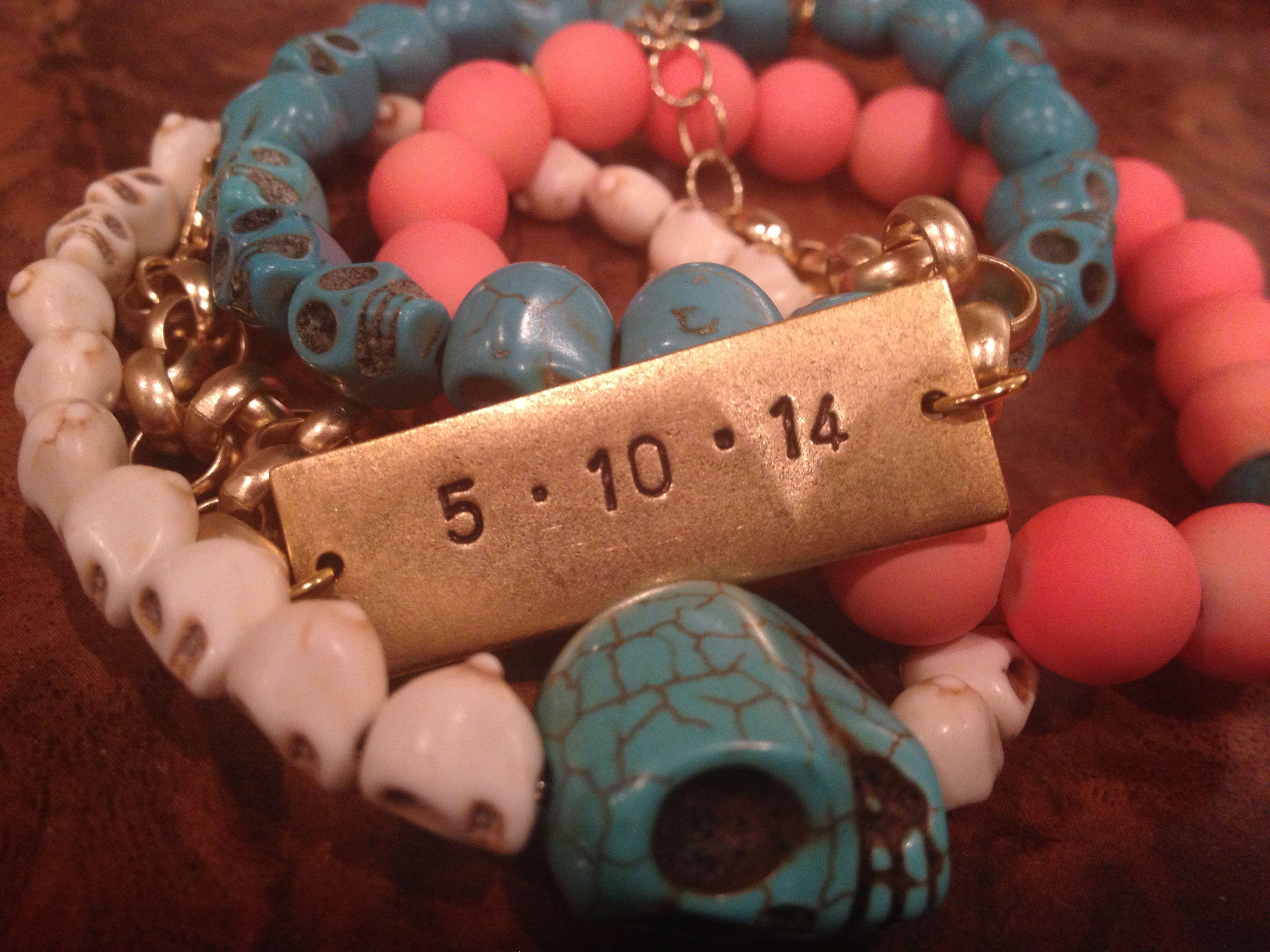 Custom Date bracelet set by sh2050