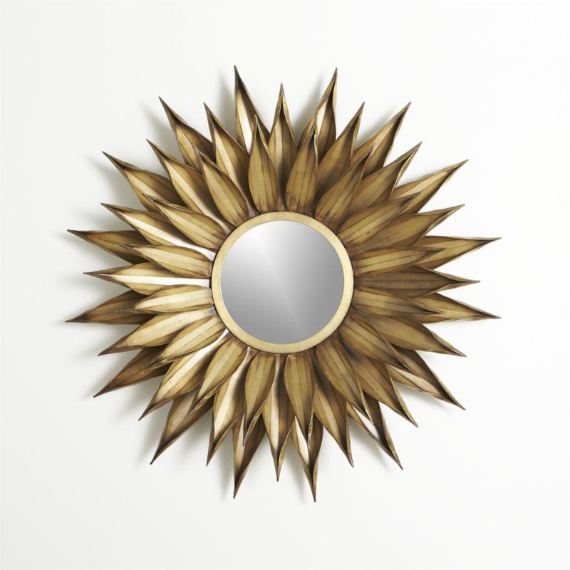 Sunflower Wall Mirror Round Wall Mirror Mirror Wall Mirror