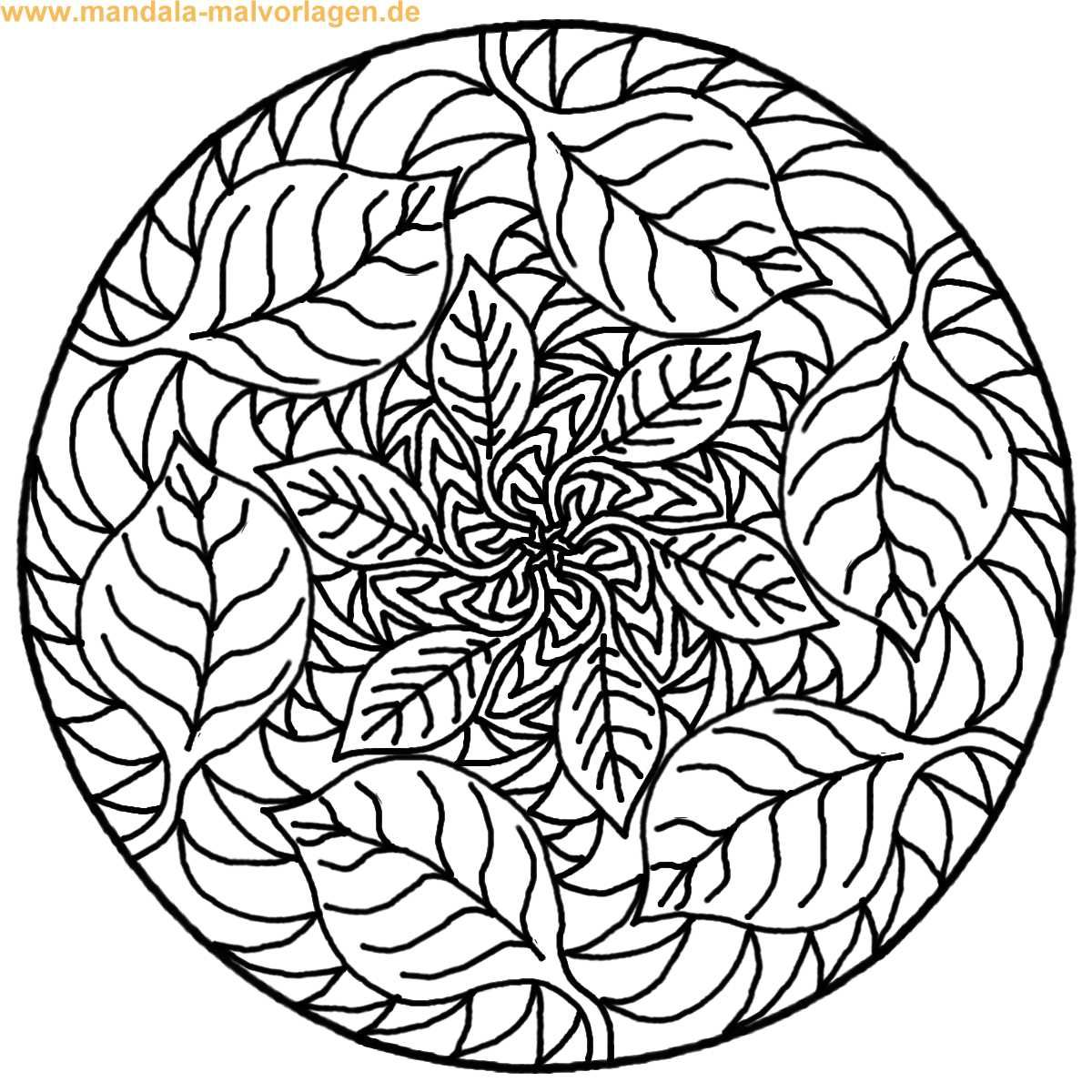 Mandala zum ausmalen | tree and leaves coloring | Pinterest ...