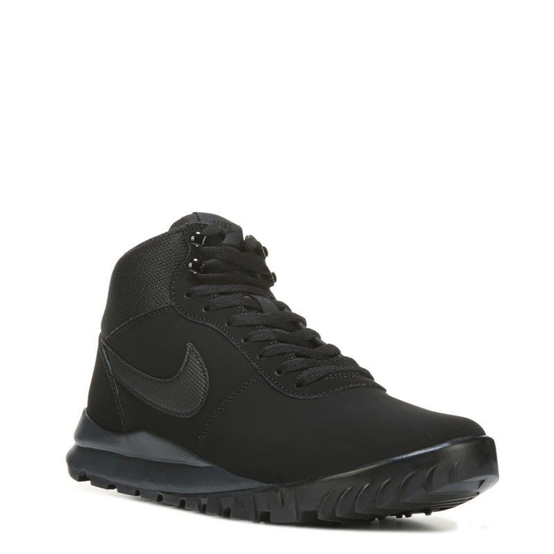 sports shoes 5d7f1 6bdbe ... casual tennis skos svart crystal silver leather  nike mens hoodland  lace up sneaker boots (black black)