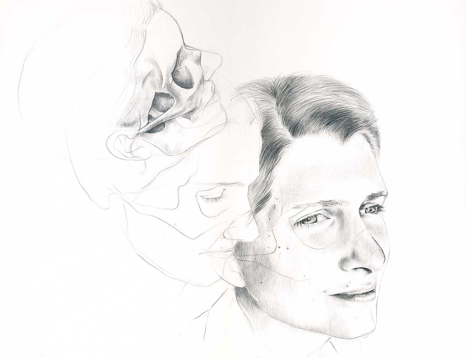 Kopfstudie, Anatomie, Portrait, Bleistiftzeichnung | Arbeiten der ...
