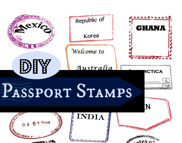 Passport Stamps Template Editable  Diy Little Passports
