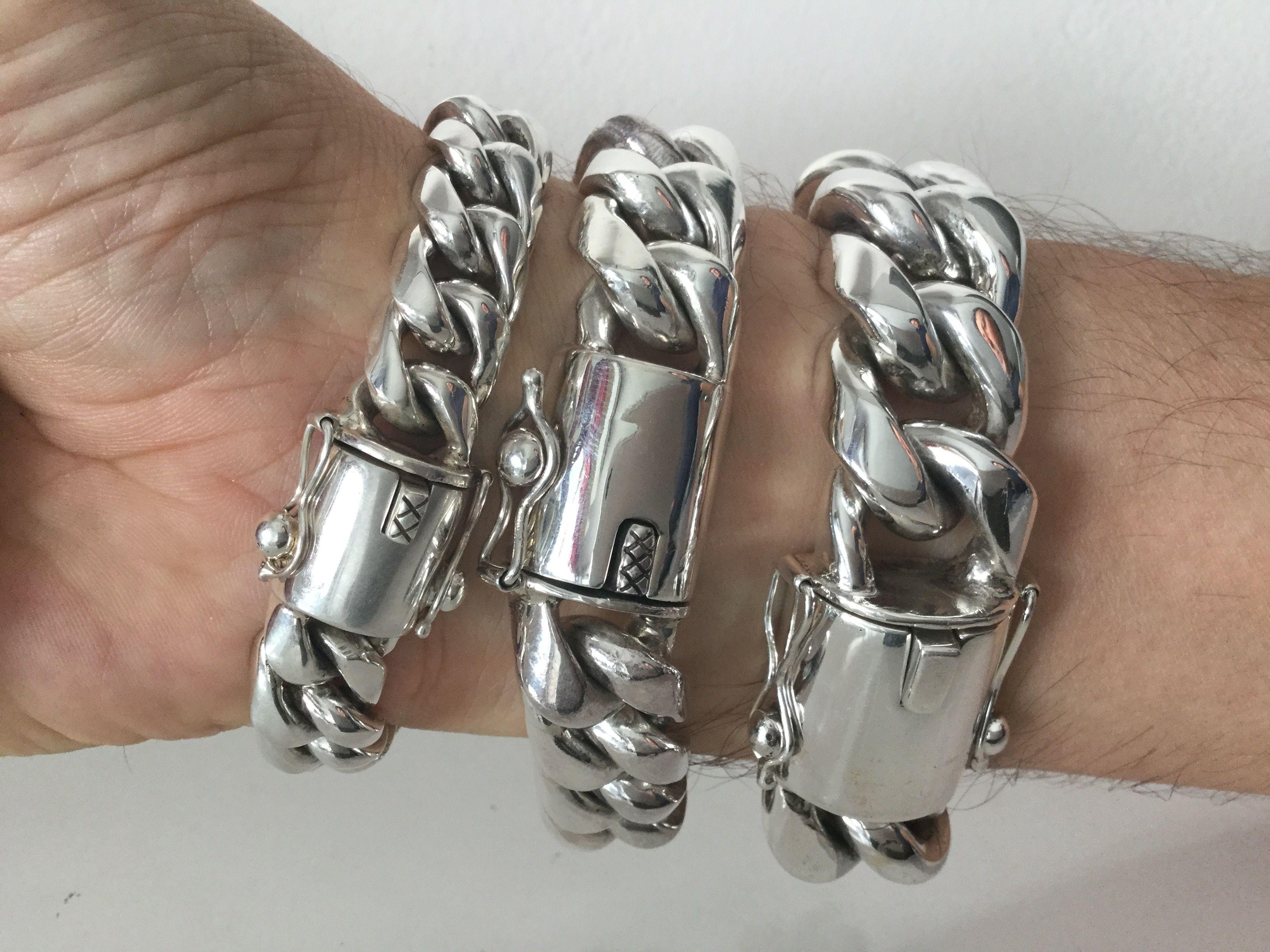 Heavy Heavier Heaviest Miami Cuban Links Bracelets 15 20mm