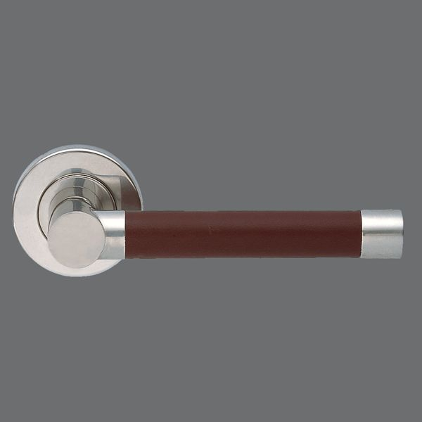 Tslh1551 Pair Of Barrel Long Style Leather Lever Handles