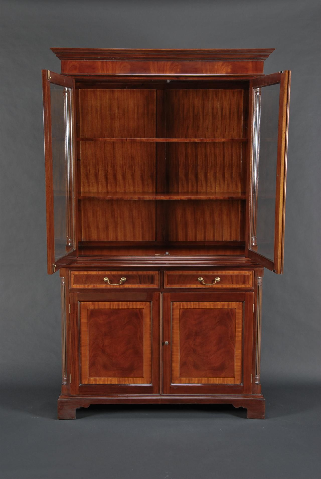 High End China Cabinets Mahogany Door High End Mahogany China Cabinet Two Door China