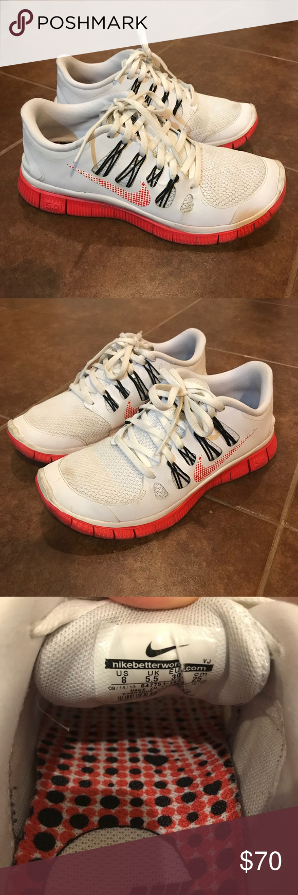Nike Free 5.0+ Running Shoes Worn but in good condition
