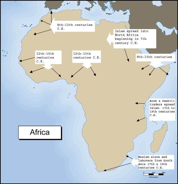 Pin on Spread of Islam in Africa (800 1500 C.E)