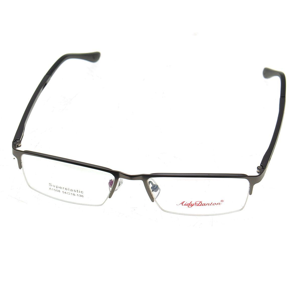 Vidrios de lectura del metal mitad sin montura montura de las gafas ...